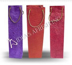 Wine Bags in Metallic Leather Textured Paper